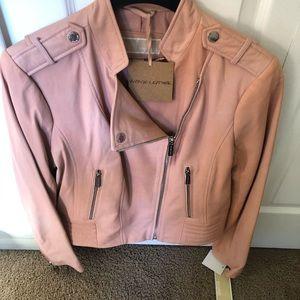Michael Kors rose gold leather jacket